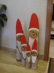 Weihnachtsmänner aus Holz Nikolaus 5