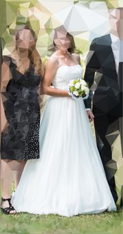 Hochzeitskleid Brautkleid A-Linie trägerlos