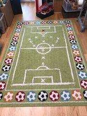 Spielteppich Fußball Kinderteppich 120x170 cm