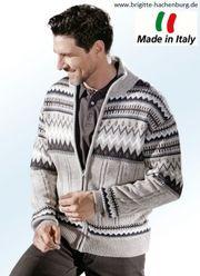 Herrenmode Strickjacke im Allover-Design Jacke