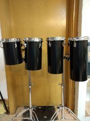 Octobans mit Ständer für Schlagzeug