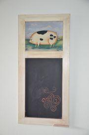 Tafel Memoboard Memotafel Motiv Schwein
