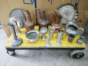 Zinn und Kupfer Deko