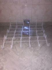 NEU 4 Stück Metall Türgarderobe