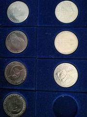7 Stück 5 DM Gedenkmünzen