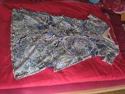 Sommerkleid weiss-blau Gr 42 neuwertig