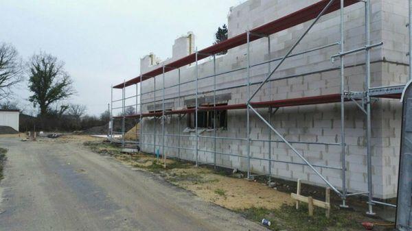 Gerüst 504qm Baugerüst Fassadengerüst 84x6m