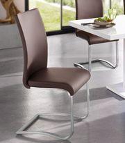 NEU Set 4x Freischwinger-Stühle Esszimmerstühle