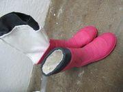 hübsche Regen- Gummistiefel in pink