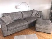 Coole Echtleder Couch Hocker Lederkissen