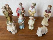 8x Krippe Figuren Weihnachten Festtage