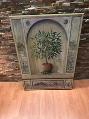 Wandbild mit Oliven