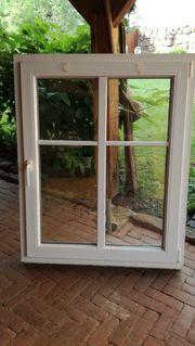 Kunststofffenster weiß mit Sprossen DK