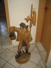 riesige Holzschnitzfigur Skulptur Figur Nachtwächter