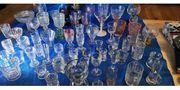 Alte Gläser verschiedene Jahrgänge