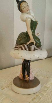 Fraureuth Porzellan Figur Tänzerin ca
