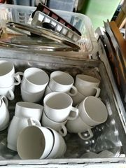 Kaffeetassen weiß feste tiefe opal