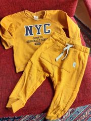 Jogging-Anzug Größe 80 sonnengelb
