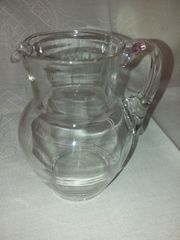 Glas Karaffe Krug Vintage