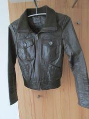 dunkelbraune Leather Lightning Jacke von