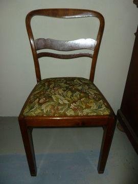 Sonstige Antiquitäten - 3 Antike Esszimmerstühle und 1