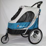 Hundekinderwagen Aventura blau 109 x