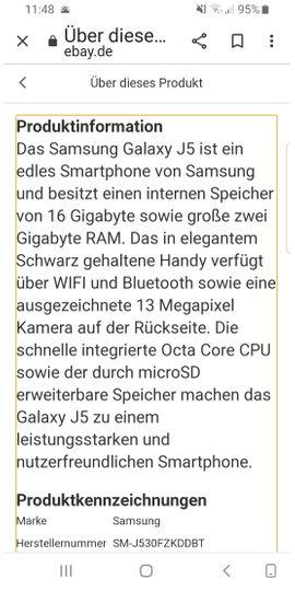 Galaxy J5 Duos: Kleinanzeigen aus Kirchseeon - Rubrik Samsung Handy