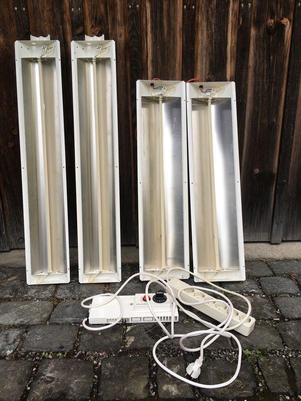4 Strahler für Physiotherm-Infrarot-Kabine mit