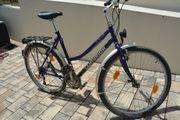 Damen Fahrrad 21 Gang blau