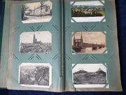 247 historische Postkarten in Jugendstilalbum