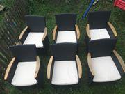 Rattan Gartensessel Gartenstühle mit Polterauflage