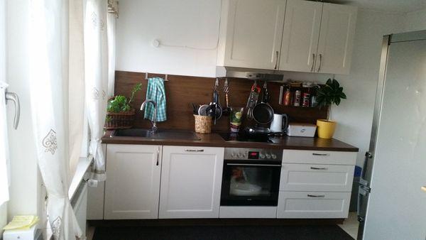 Küche gebraucht , Hessen - Magnolienweiß/Walnuss mit ...