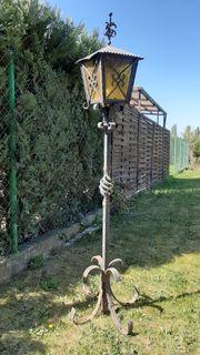 Schmiedeeisen Laterne Gartenlampe Sockellampe Außenlampe