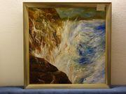 Ölgemälde Wasserfall