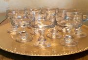 Likörschalen aus Kristallglas