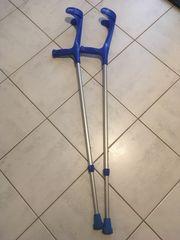 Krücken Gehstützen blau neuwertig
