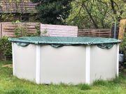 Gartenpool Metal Außenwand