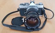 Spiegelreflexkamera Olympus OM-1 Novoflex T-Noflexar