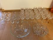 Gläser und Schüsseln aus Bleikristall