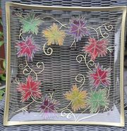 Hinterglasmalerei Glasschale handbemalt Glasmalerei Dekoschale