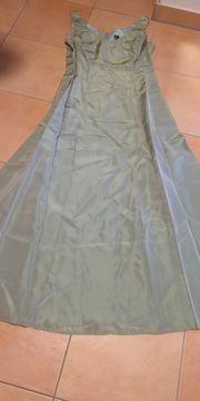 Ballkleid mintgrün-perlmutt Gr 44 Bodenlang