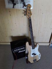 Fender Squier Precision Bass abgeschliffen
