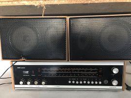 Stereoanlagen, Türme - REMA ANDANTE RFT-Radio mit Boxen