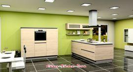 Küchenzeilen, Anbauküchen - Moderne Grifflose KÜCHE 250 190