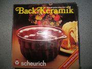 Backform Gugelhupf Kuchenform Keramik braun