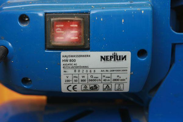 Hauswasserwerk neptun hw 800 3600