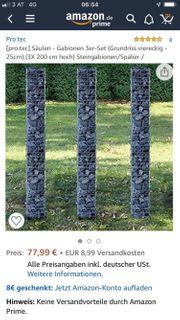 Gabionen-Säulen 3x Neu