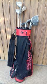 biete golfausrüstung und golf damenschuhe