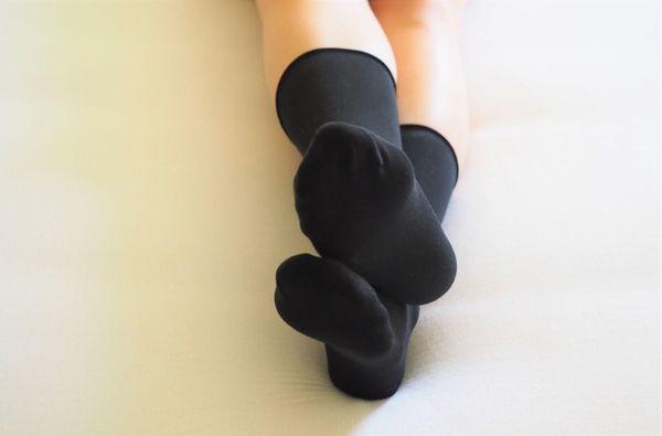 Socken-getragen Grösse XS schwarz von