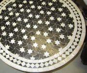 MOSAIKTISCH mit antiquarischem Tischgestell - Platte